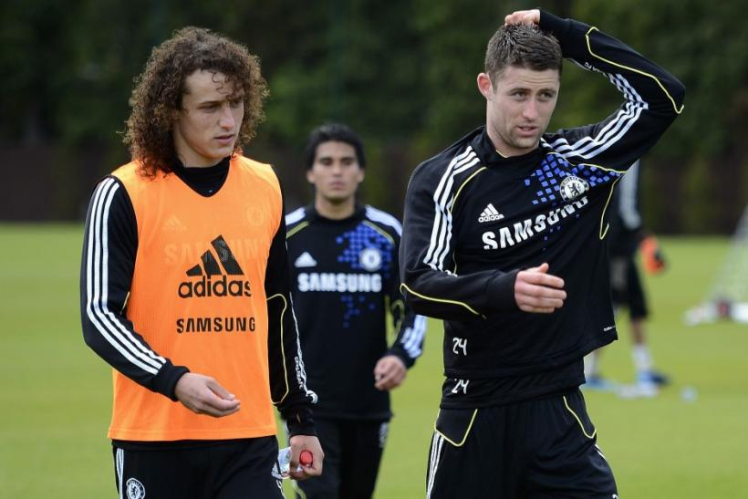 David Luiz (L) and Gary Cahill