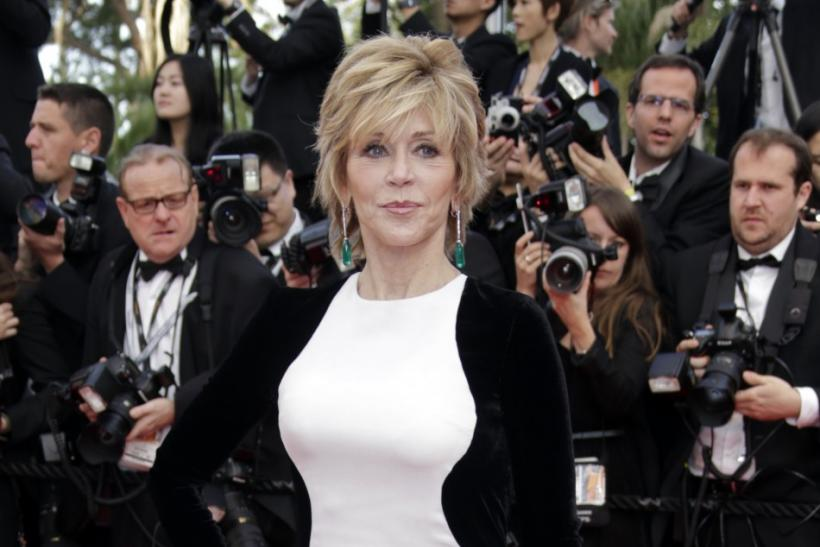 "Actress Jane Fonda arrives on the red carpet for the screeing of the film ""De rouille et d'os"", in competition at the 65th Cannes Film Festival, May 17, 2012."