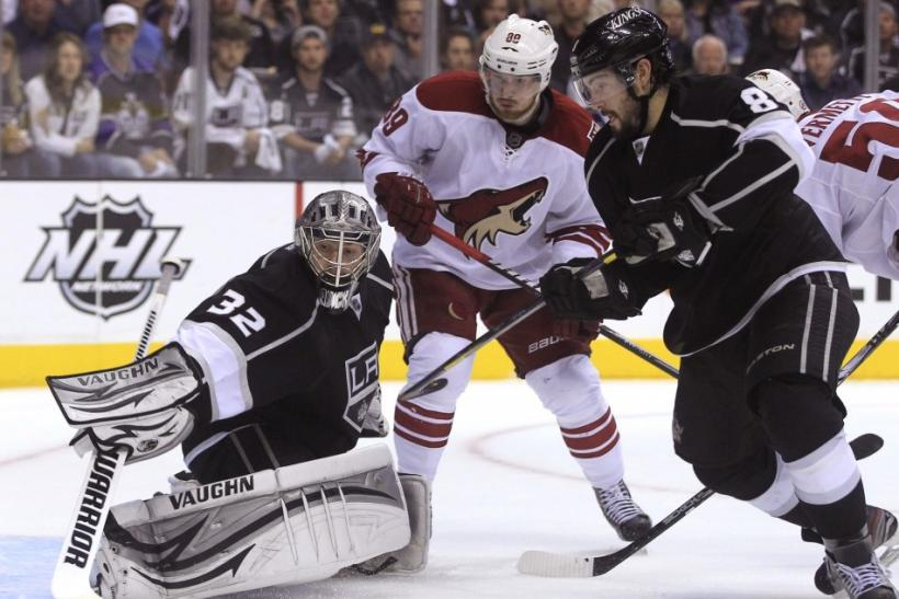 The Kings take on the Coyotes at 3 p.m. ET.