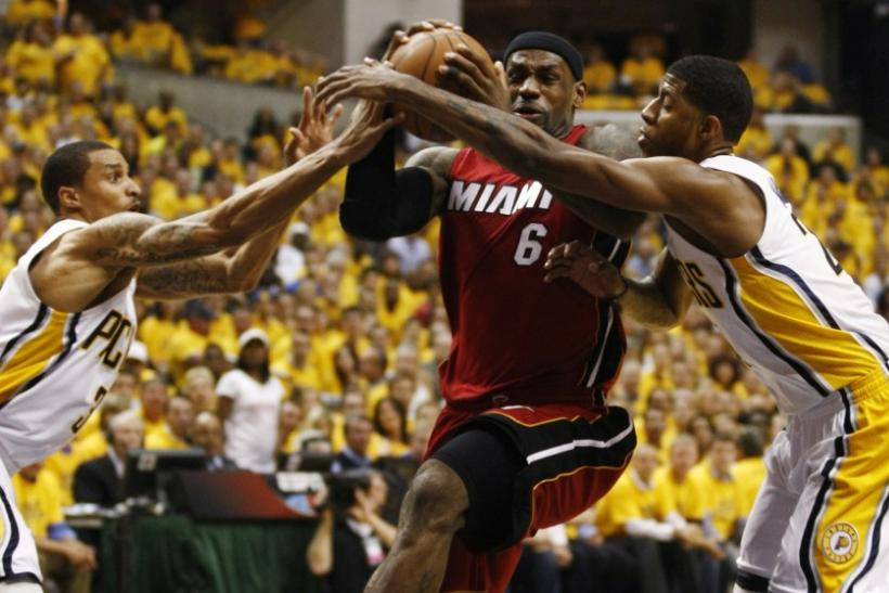 The Heat take on the Pacers at 3:30 p.m. ET.