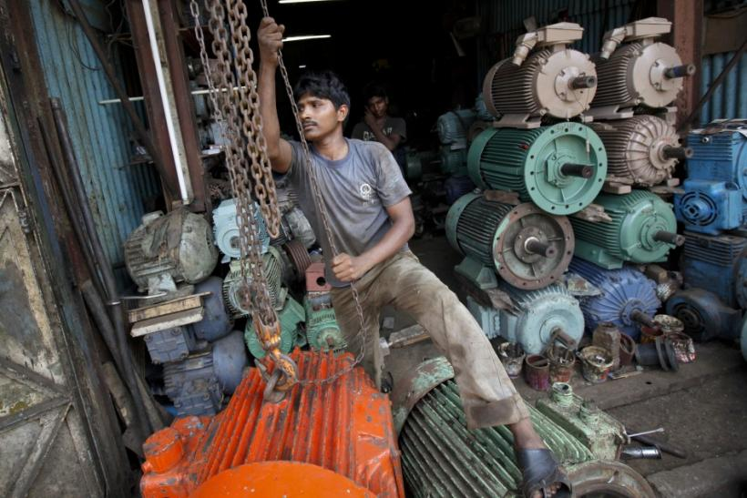 An Indian worker in a store
