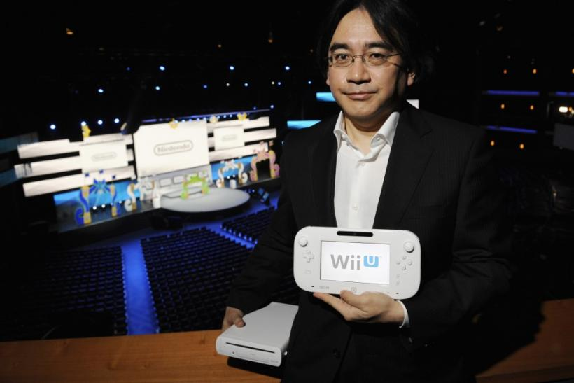 Nintendo President With The Wii U GamePad