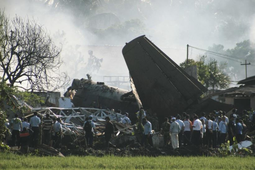 Indonesian Air force Plane Crash In Jakarta