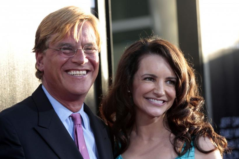 Aaron Sorkin and Kristin Davis