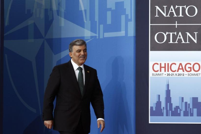 Turkish President Abdullah Gul arrives at the NATO Summit in Chicago