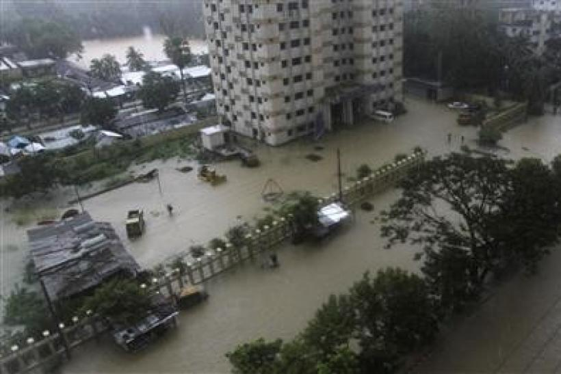 Heavy rains in Bangladesh