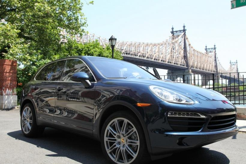The 2012 Porsche Cayenne S parked.