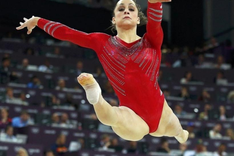 Jordyn Wieber of the U.S. performs her floor exercise