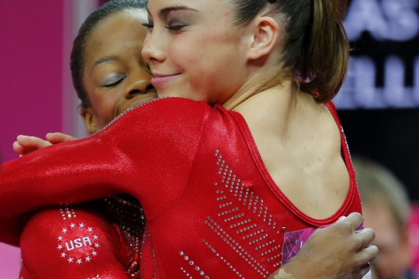 Gabby Douglas and Aly Raisman