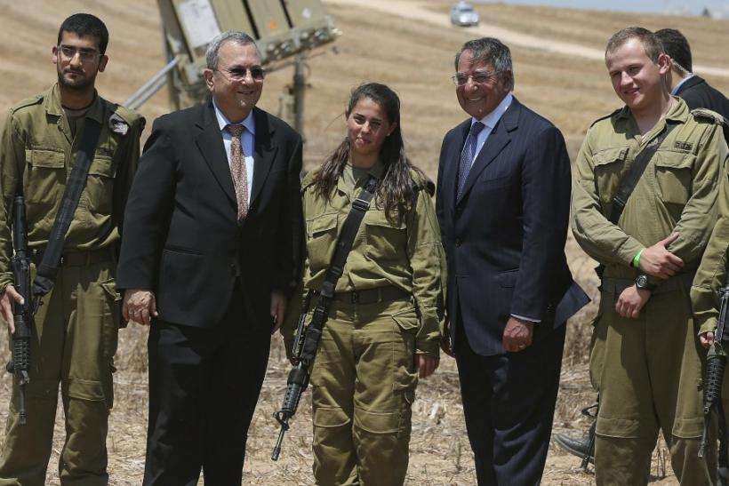 Panetta with Barak in Israel near Gaza