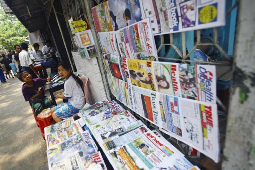 Newsstand in Myanmar