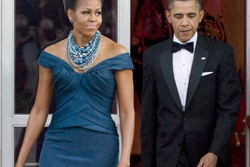 Michelle Obama looked radiant at the White House state dinner