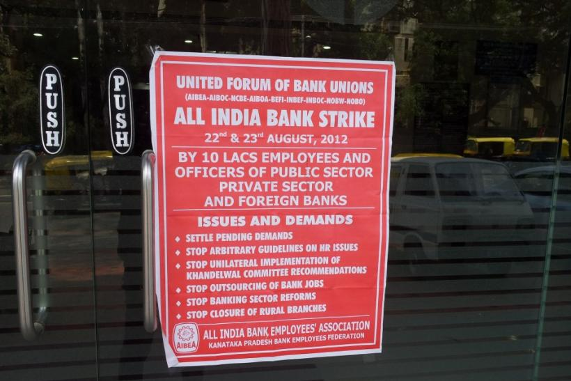 Indian Public Sector Bank workers strike opposing reforms has hit banking operations.