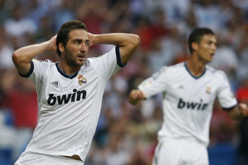 Real Madrid Gonzalo Higuan and Cristiano Ronaldo