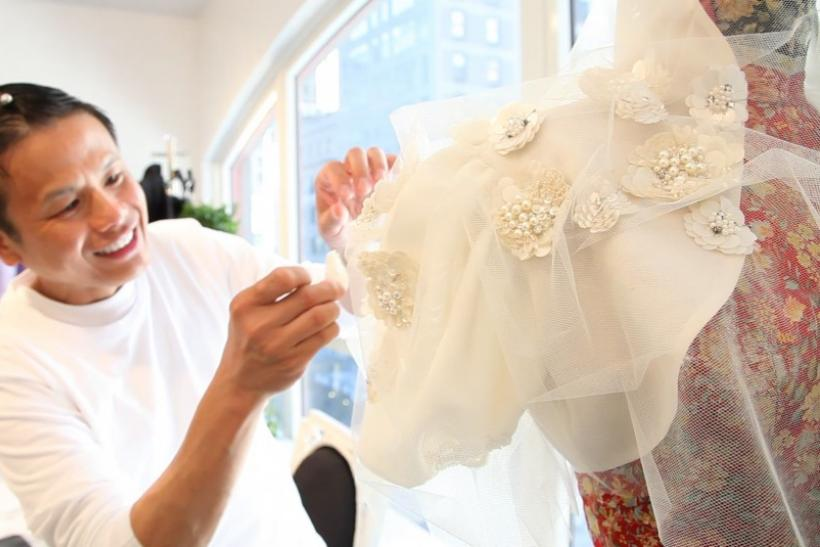 Designer Zang Toi at work in his studio ahead of New York Fashion Week.
