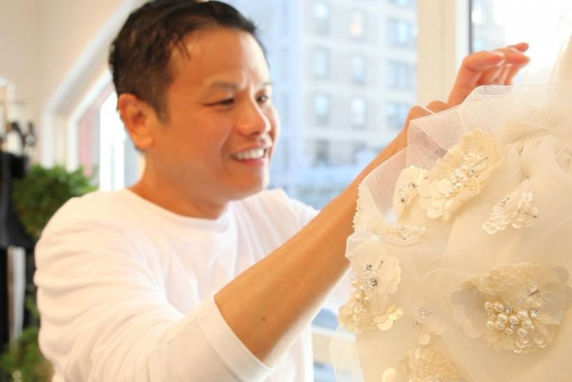 Designer Zang Toi puts the finishing touches on his Spring 2013 collection in his studio ahead of New York Fashion Week.