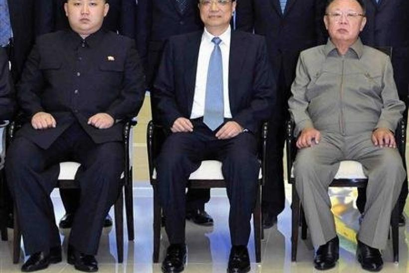 Kim Jong Un with Chinese Leader