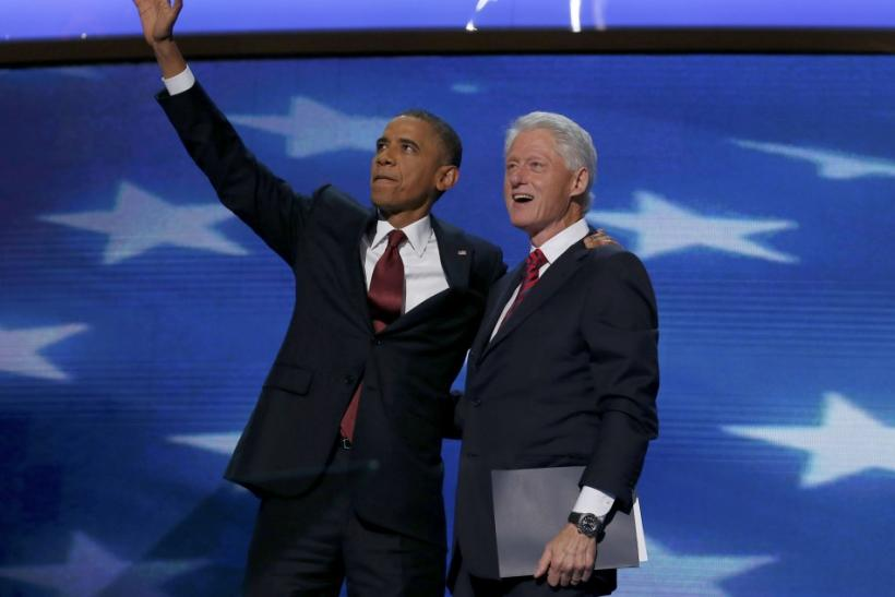 Barack Obama and Bill Clinton at DNC