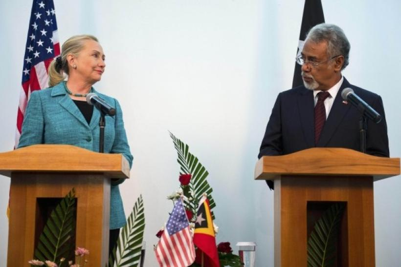 Hillary Clinton and Xanana Gusmao