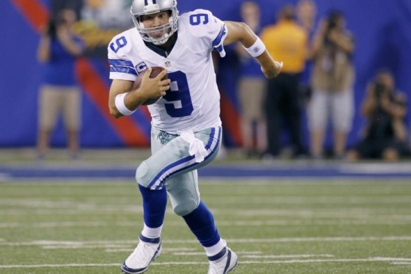 Tony Romo's performance helped the Cowboys start the 2012 NFL Season at 1-0.