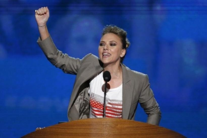 Scarlett Johannson Speaks At DNC