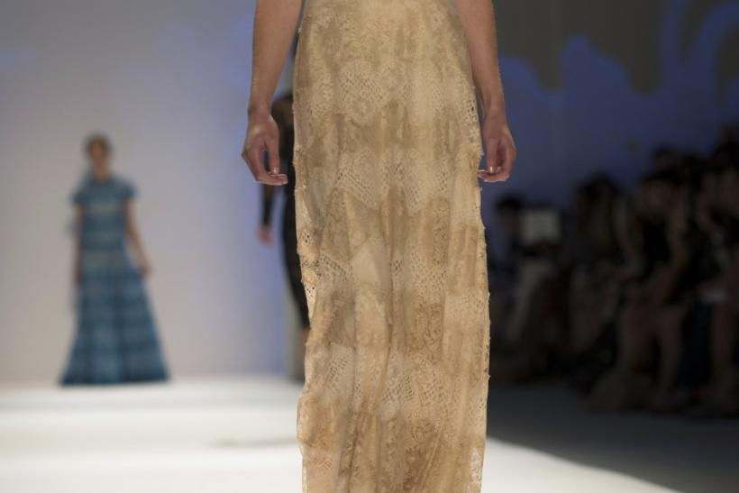 A model presents a creation from the Tadashi Shoji Spring/Summer 2013 collection during New York Fashion Week September 6, 2012.