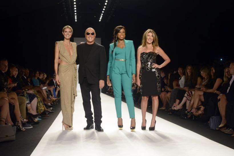 Heidi Klum, Michael Kors, Jennifer Hudson and Nina Garcia at Project Runway