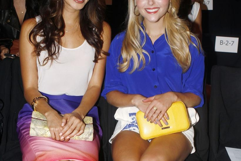 Jamie Chung and AnnaSophia Robb at Rebecca Minkoff