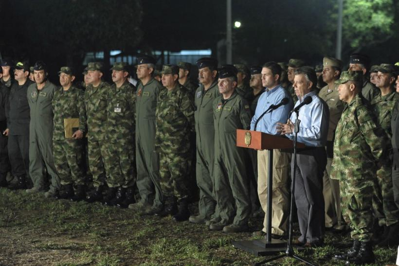 Santos With Military