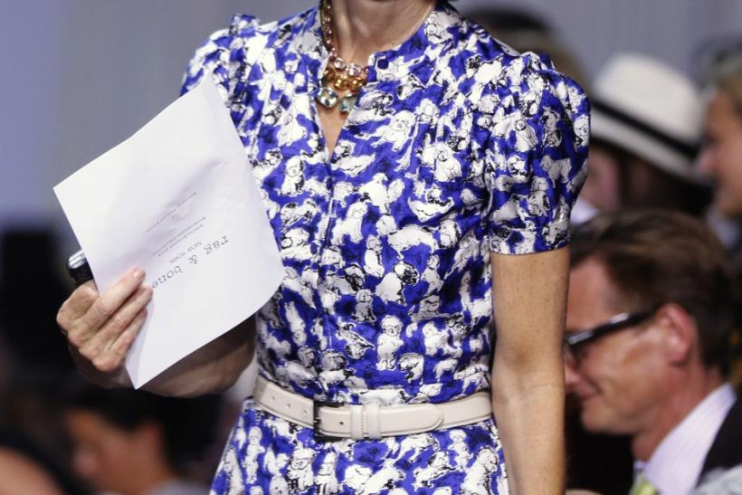 Anna Wintour attends Rag & Bone Spring 2013 collection at New York Fashion Week