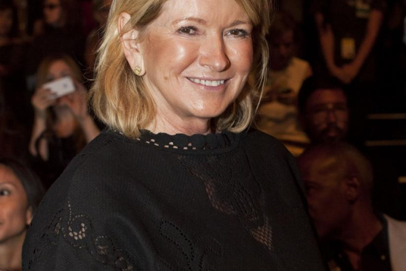 Martha Stewart poses before the Chado Ralph Rucci Spring/Summer 2013 collection show during New York Fashion Week September 9, 2012.