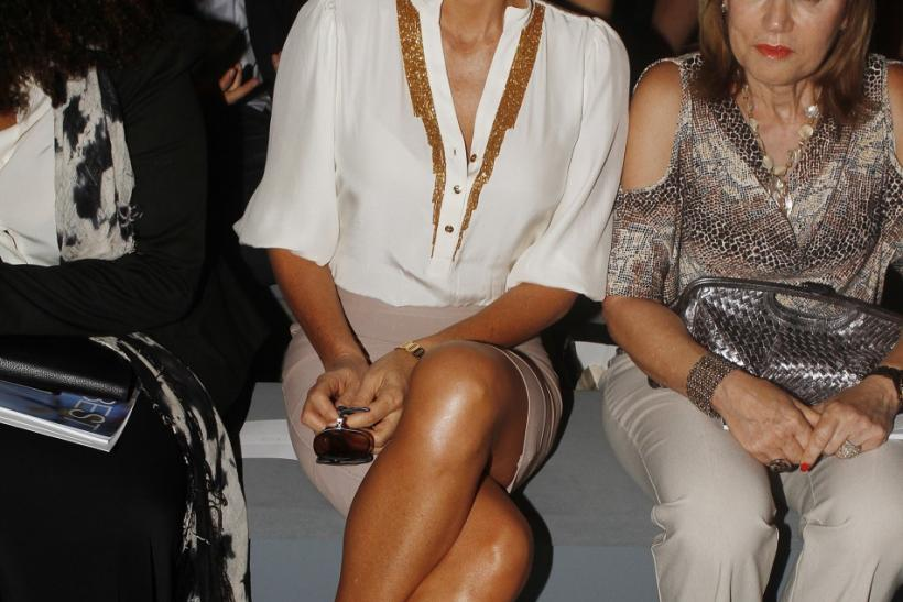 Daisy Fuentes at the Carlos Miele Spring/Summer 2013 collection show at New York Fashion Week September 10, 2012.