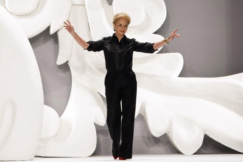 Carolina Herrera after her Spring 2013 show at New York Fashion Week