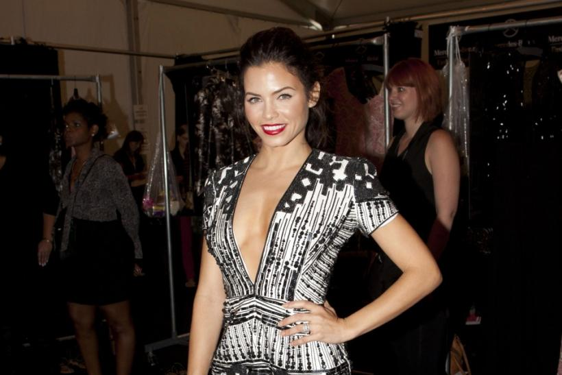 Actress Jenna Dewan-Tatum poses backstage at the Naeem Khan Spring/Summer 2013 collection during New York Fashion Week September 11, 2012.