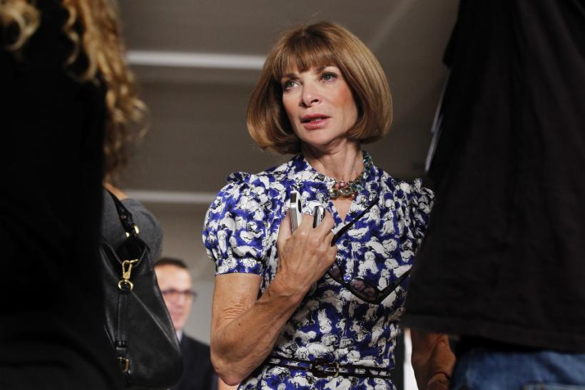 Vogue Editor Anna Wintour departs a presentation of Ralph Lauren's Spring/Summer 2013 collection during New York Fashion Week, September 13, 2012.