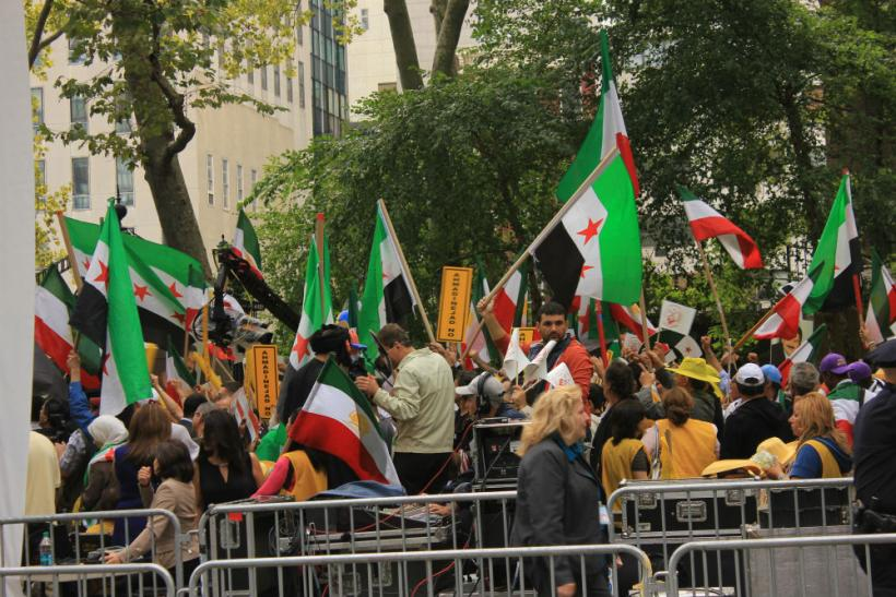 Protesters Outside UN During General Assembly