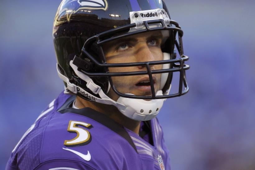 Joe Flacco is second in the NFL in passing yards.