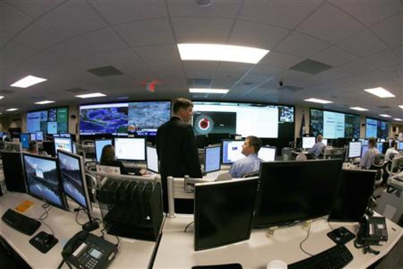 Analysts prepare for the Cyber Storm III at the National Cybersecurity & Communications Integration Center (NCCIC) in Arlington Virginia