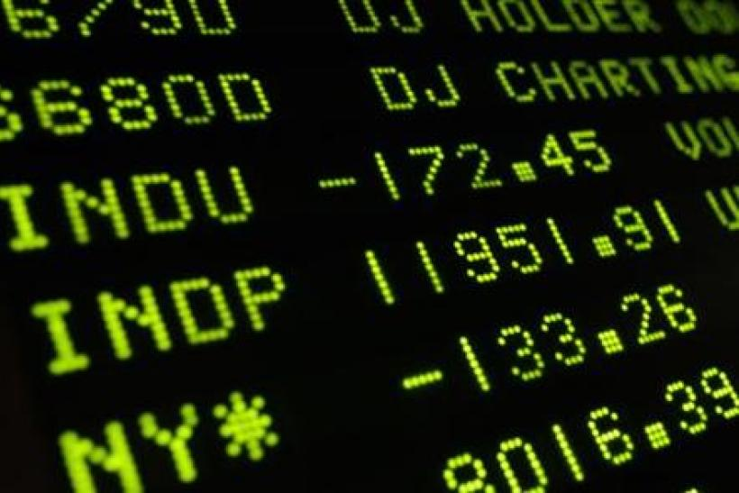 A board shows the Dow Jones Industrial average after the closing bell at the New York Stock Exchange