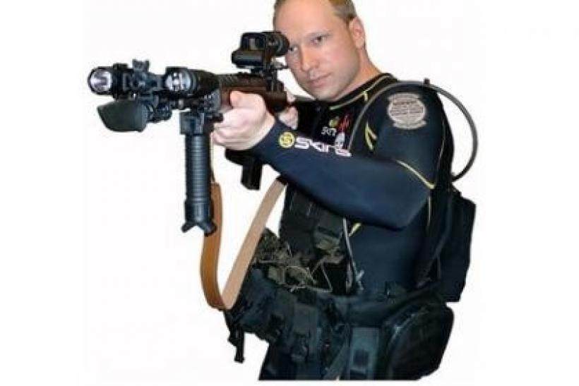 "A picture of Anders Behring Breivik taken from a book downloaded from a link posted on the Norwegian discussion website, www.freak.no, and entitled ""2083 - A European Declaration of Independence"", is seen in this screen grab"