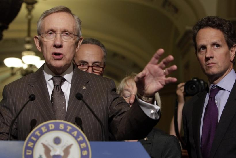 Senate Majority Leader Harry Reid, Treasury Secretary Timothy Geithner