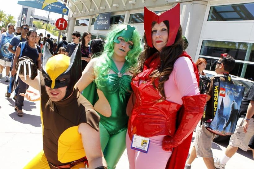 Comic Con attendees arrive in costume at the pop culture event in San Diego