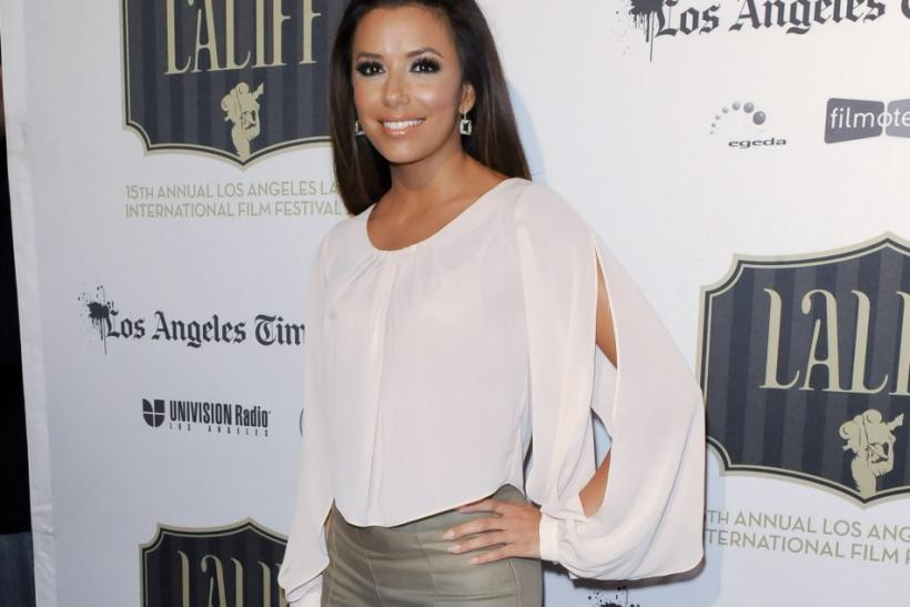 "Actress Eva Longoria arrives at the Los Angeles Latino International Film Festival special screening of ""Without Men"" during the Maya Indie film series in the Hollywood area of Los Angeles, California"