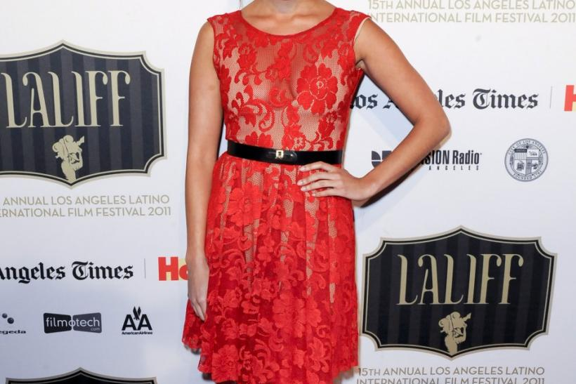 "Mexican actress Fernanda Romero arrives at the Los Angeles Latino International Film Festival special screening of ""Without Men"" during the Maya Indie film series in the Hollywood area of Los Angeles, California"