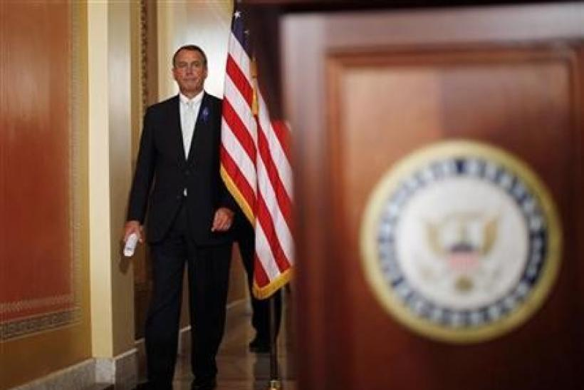 Analysis: The politics behind Boehner's two-step debt hike