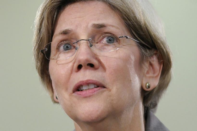 Warren testifies at a hearing about oversight of the Consumer Financial Protection Bureau of the Oversight and Government Reform Committee in Washington