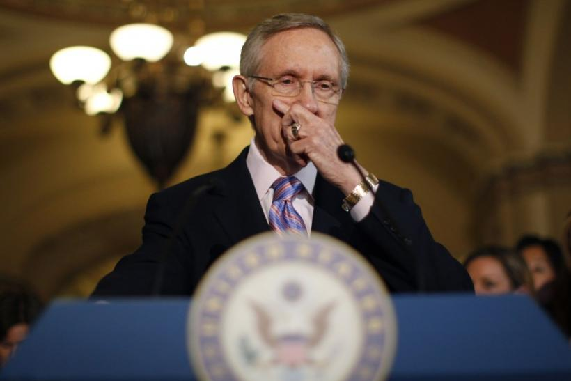 U.S. Senate Majority Leader Harry Reid is pictured during debt reduction talks on Capitol Hill in Washington