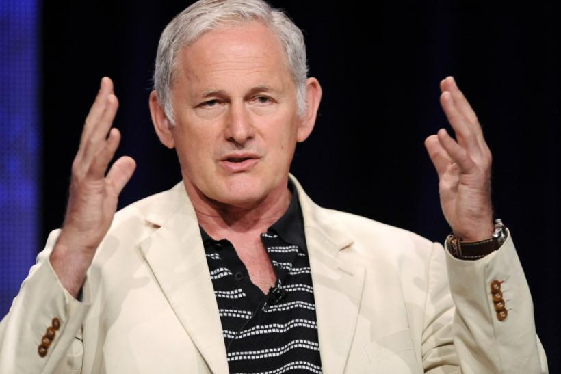 "Actor Victor Garber from the television show ""William & Catherine: A Royal Romance"" takes part in a panel discussion during the Hallmark Channel portion of the Press Tour for the Television Critics Association in Beverly Hills, California"