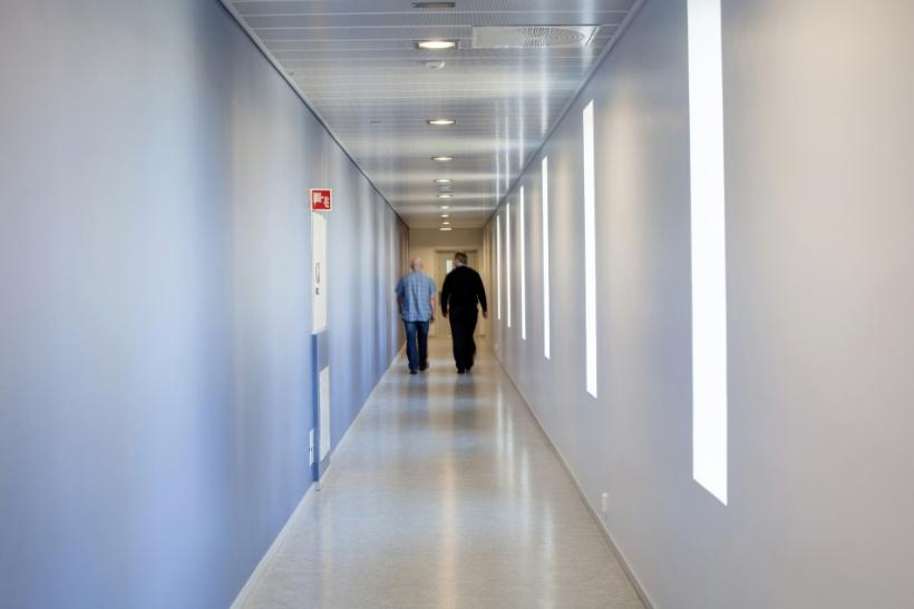 Two men walk inside Halden prison in the far southeast of Norway in this picture taken in 2010, released on July 27, 2011.