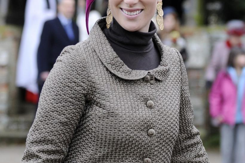 Britain's Zara Phillips leaves Sandringham church following the annual Christmas Day church service at Sandringham Estate in Norfolk